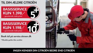 Bestil Citroën Basisservice fra kun 1.198,- kr.